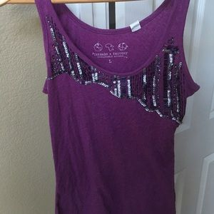 Threads 4 Thought purple sequin tank